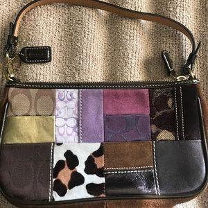 Coach patchwork wristlet shoulder purse